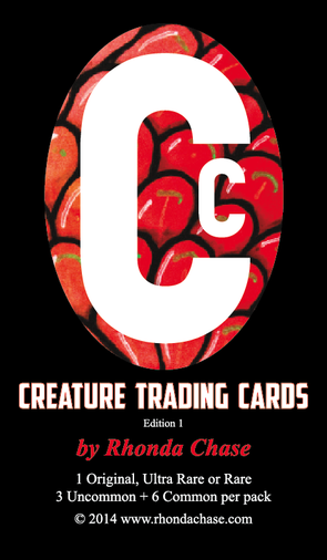 Creature Trading Cards front sticker